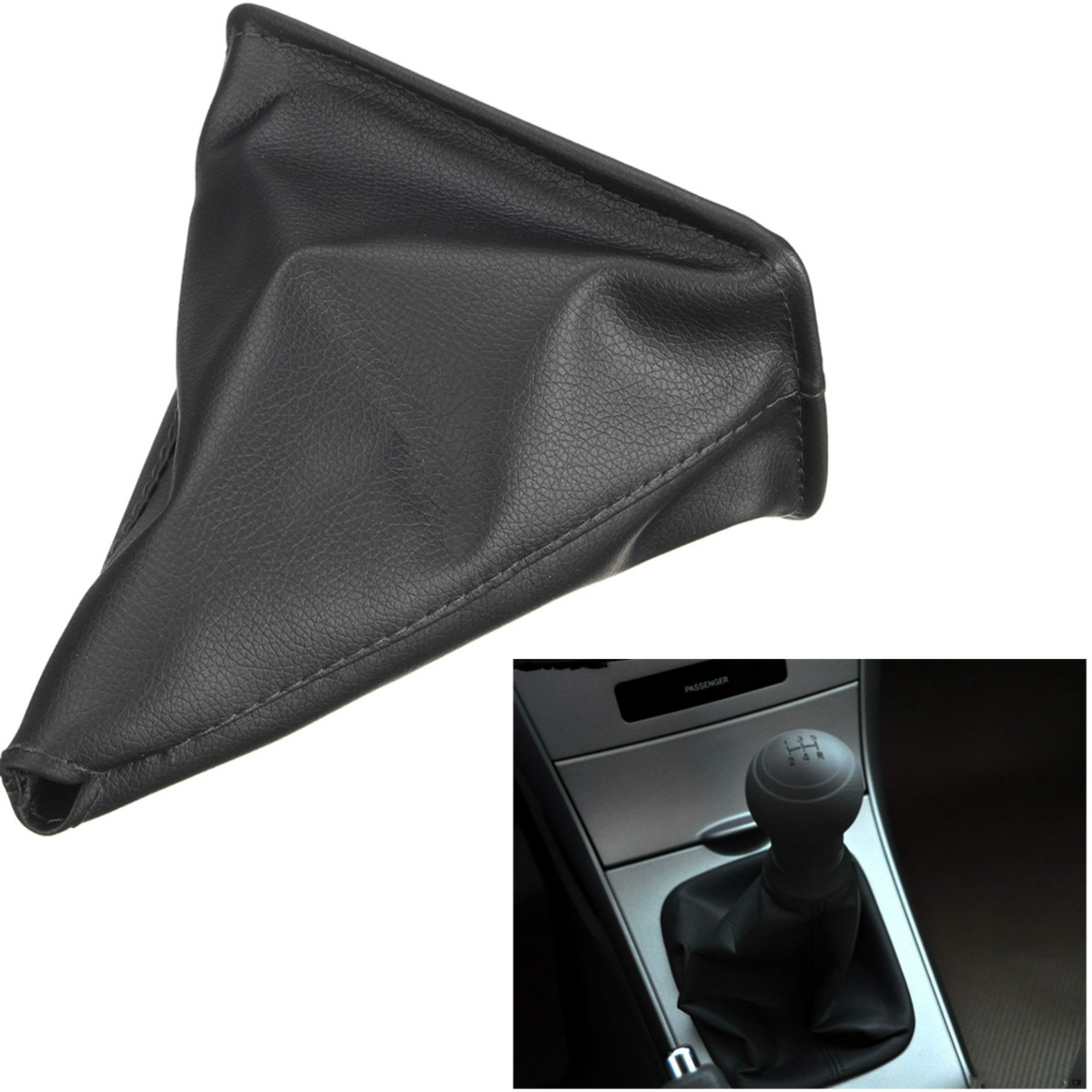 Black PU Leather Gear Stick Shift Gaiter Boot Cover For font b Toyota b font Corolla