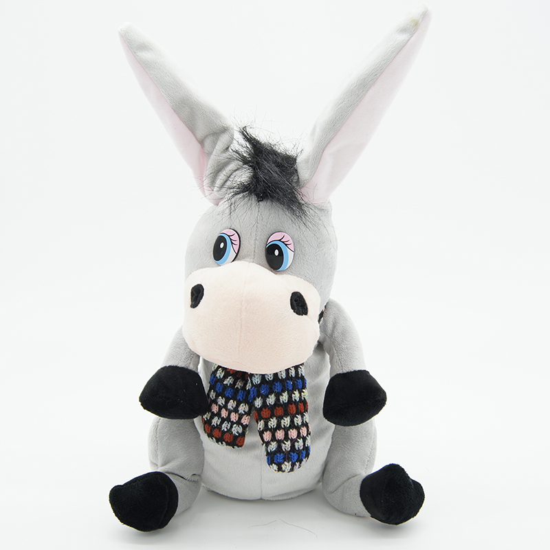 Donkey With Flapping Ears Talking Speaking Plush Toys Singsing Stuffed Animals  For Children Girls Boys Baby Tiara
