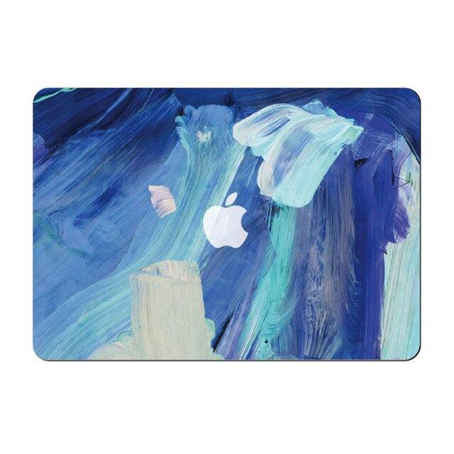 Cool Blue Stroke Paint Vinyl Front Decal Laptop Skin For Le Macbook Air Pro Retina 11