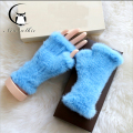 Mink Fur gloves 20CM 2016  Glove Luxury Brand Mittens Solid Style For Russian Winter Real Fur Gloves