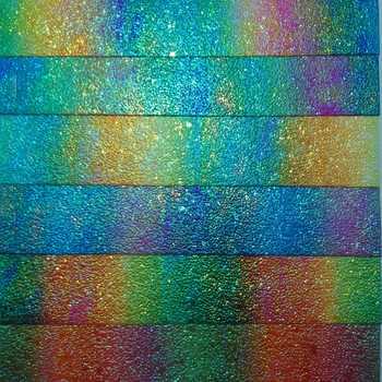 91x134 ซม. สังเคราะห์หนัง, ไวนิล, ผ้าพิมพ์หนัง Rainbow ผ้าสำหรับ Bows DIY อุปกรณ์เสริม P2452 - SALE ITEM บ้านและสวน