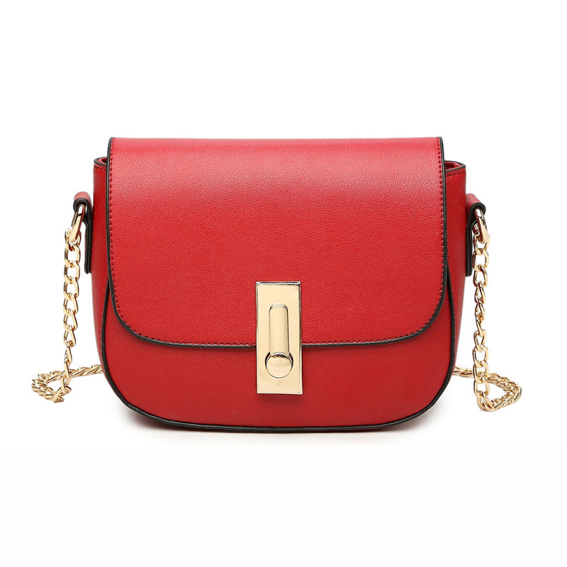 2018 PU Leather Women Messenger Bag Plaid Ladies Crossbody Bag Chain Trendy Candy Color Small Flap Shopping shoulder bags
