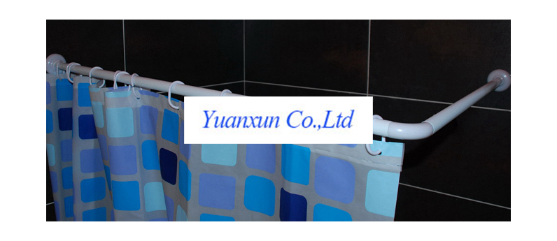 Curtains Ideas 90 Degree Angle Curtain Rod : L Ply Bathroom Products  Hanging Rods Shower Curtain