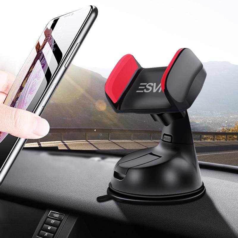 ESVNE support universel pour pare-brise voiture support pour téléphone pour iPhone 8 6 7 X téléphone portable support pour voiture supports support téléphone cellulaire