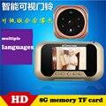 ''TFT LCD Двери Цифровой Глазок Камеры Ночного Видения Электронный Дверной Звонок Цветной Экран Дверь Глаз Глазок Видеорегистратор