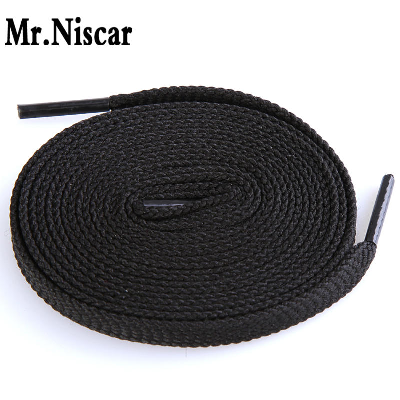 1 Pair Black and White Shoelaces Flat Shoe Laces for Casual Shoes Shoestring String (2 Color Length 100/160cm)