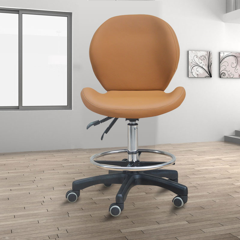 Portable Multifunction Tattoo Chair Cosmetology Manicure Lifted Stool Rotated Barber Chair With Footrest Office Staff Stool