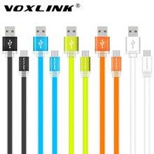 Voxlink 1 м/2 м/3 м Универсальный плоским Лапша Micro USB Зарядное устройство кабель синхронизации данных для Samsung HTC LG Sony Huawei Xiaomi телефонах Android