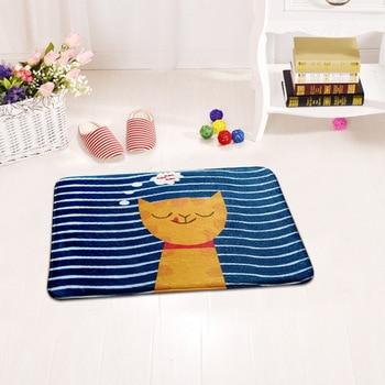 Alfombras para el hogar, sala de estar alfombra para, felpudos de bienvenida para pasillo, bonito estampado de gato, alfombra de Tapete antideslizante para baño o cocina