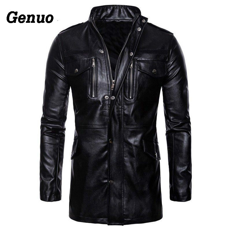 Autumn Winter Fashion Leather Jacket Male Leather Coat Casual Jacket Outwear Men s Quality Black Motorcycle