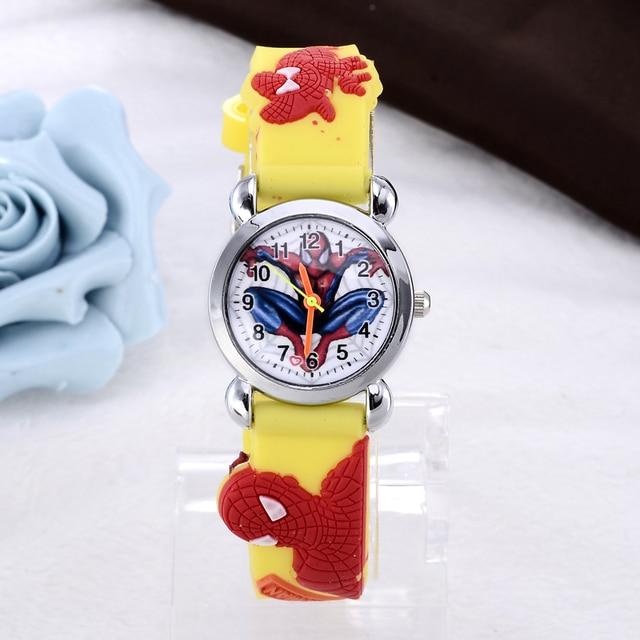 New Spiderman Watch Fashion Kids Watches Boys Watches Children Cartoon Watches Jelly Silicone Qaurtz Watch relojes infantiles