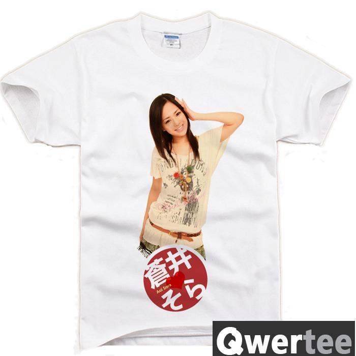 Aoi Sola Japan Av Star Print Fashion Free Shipping Original Design Cotton Casual Tshirt T Shirt Tee In T Shirts From Mens Clothing On Aliexpress Com