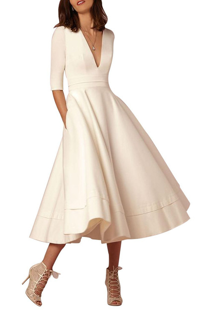 Mother of the Bride Dress with Pockets