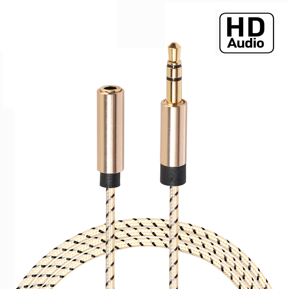 1-5m AUX <font><b>Jack</b></font> HD Audio Extension Cables 3.5mm Male to Female Auxiliary Stereo Cable <font><b>3.5</b></font> mm Lossless Speaker Headphone Cord image
