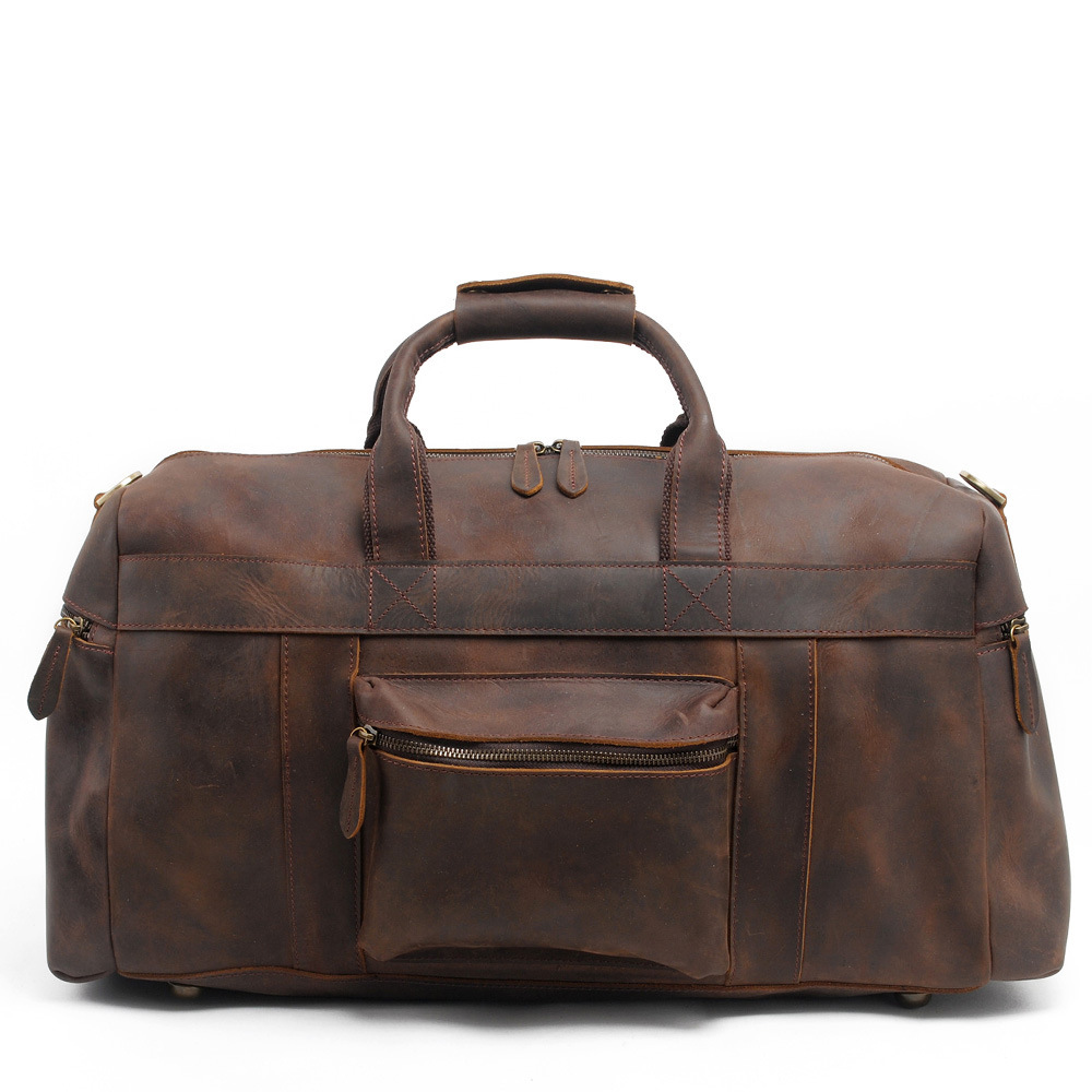 Men Crazy Horse leather travel bag Big real leather Weekend Bag Zip-around Genuine Leather Women Red Travel duffle Luggage bag fashion crazy horse leather travel bag men business travelling bag leather duffle bag luxury leather messenger bag