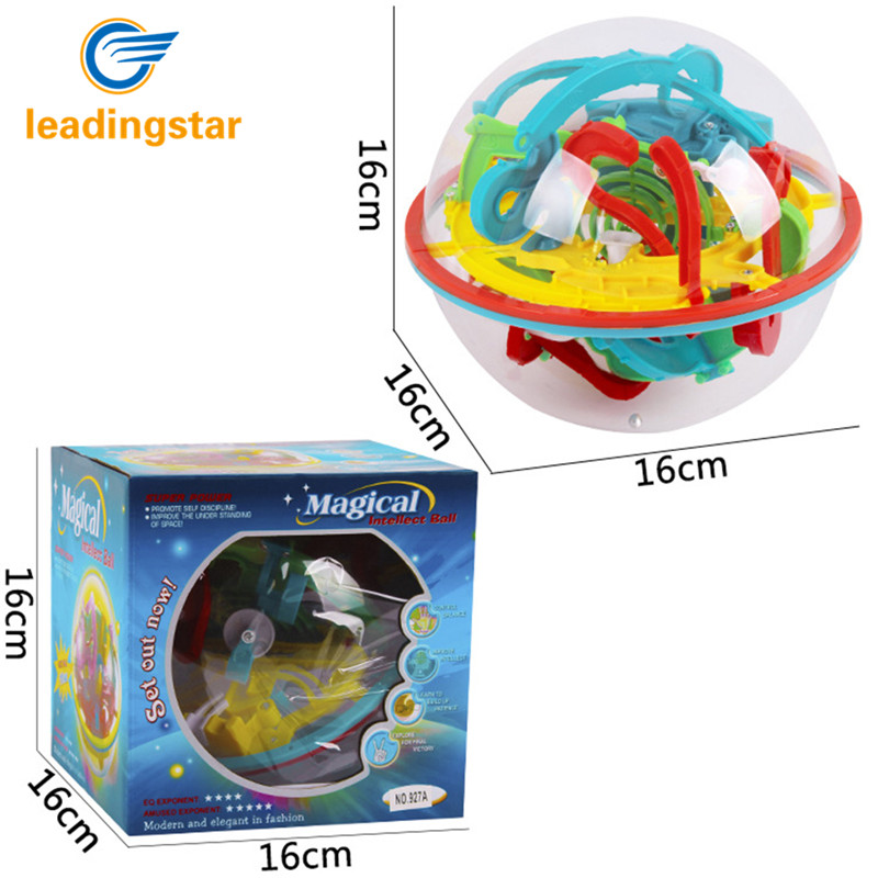 LeadingStar 118 Challenging Levels Magic 3D Maze Ball Interesting Labyrinth Puzzle Game Globe Toys Zk15