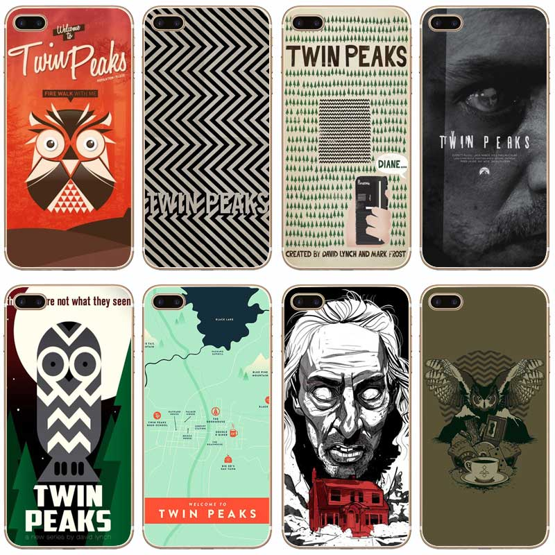 H353 Welcome To Twin Peaks Transparent Hard Thin Case Cover For Apple iPhone 4 4S 5 5S SE 5C 6 6S 7 8 X Plus