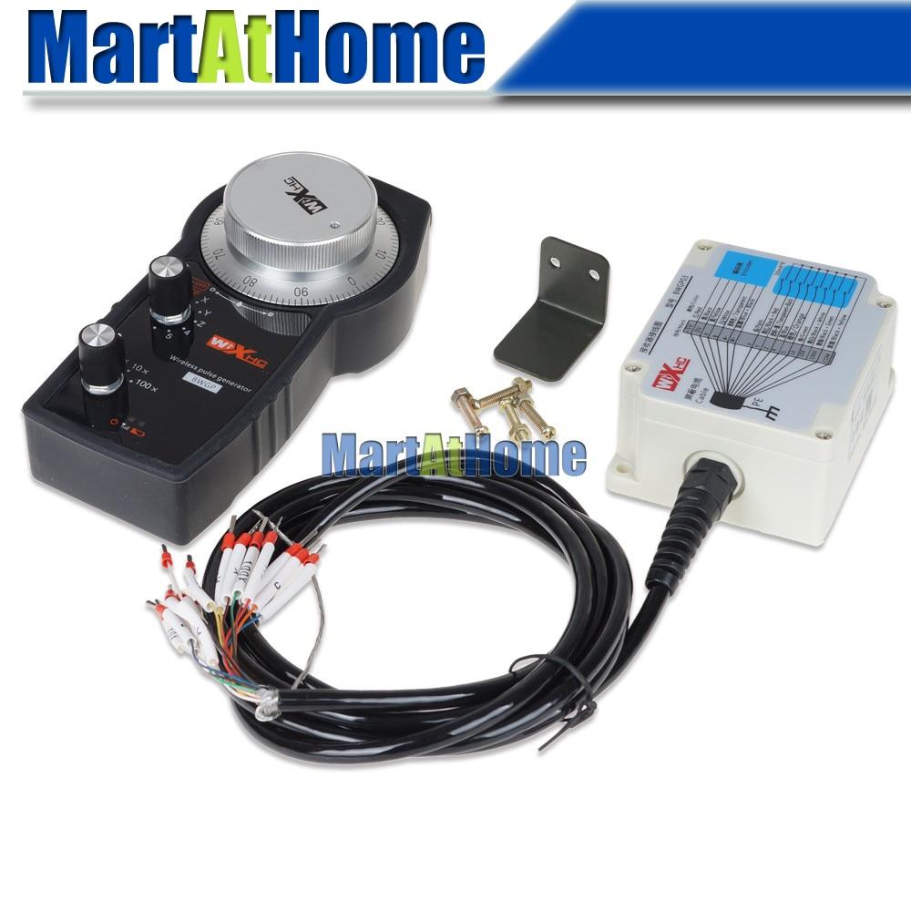 Általános 5 tengelyű vezeték nélküli elektronikus MPG kézi impulzusgenerátor-támogatás SIEMENS, MITSUBISHI, FANUC, FAGOR, NUM, LNC, JÖVŐ, SYNTE CNC