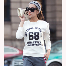 Women Hoodies Sweatshirts Autumn Letter Print Long-Sleeved Casual Pullovers