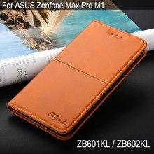 Чехол для Asus Zenfone Max Pro M1 ZB601KL ZB602KL Роскошный чехол винтажный кожаный чехол для телефона флип чехол с подставкой с карманом для карт принципиально
