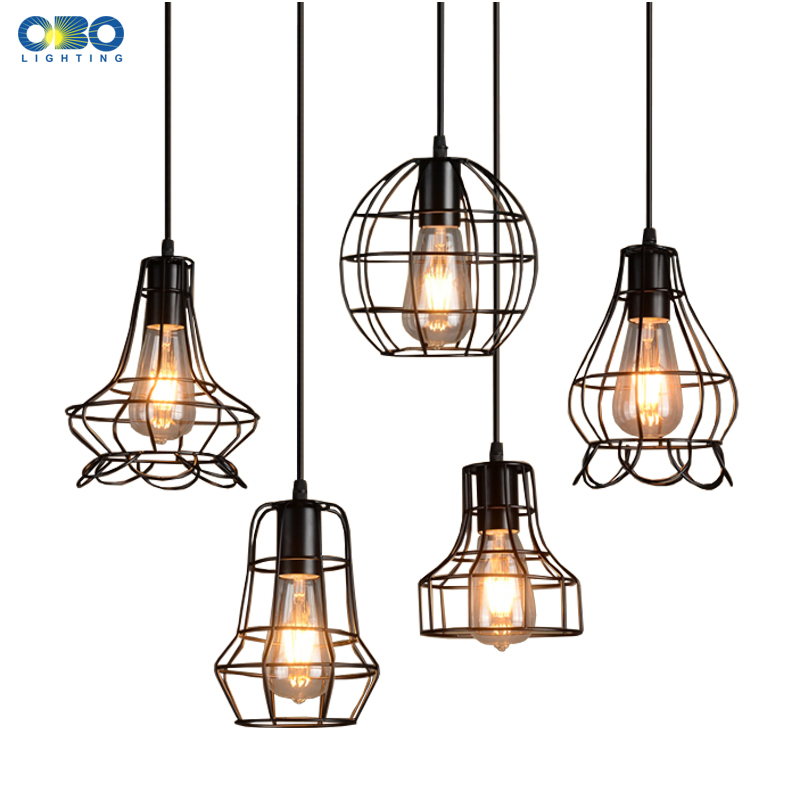 Vintage Black Basket Painted Iron Pendant Lamps Indoor Bra Coffee House Lighting Wire Cord 1.2-1.5m E27 110-240V Free Shipping ручной пылесос handstick dyson v6 cord free extra sv03 350вт желтый