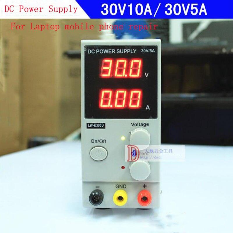 Régulateur de tension 30 V 10A régulateur d'alimentation cc réglable monophasé LW-K3010D