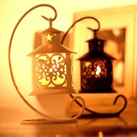 Romantic Creative Vintage Hollow Out Iron Chandelier Morocco Style Anniversary Valentine S Candle Holder