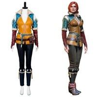 Ведьмак 3: Дикая Охота Трисс меригольд Косплэй костюм для взрослых Для женщин Для мужчин для Хэллоуина Карнавал полный набор