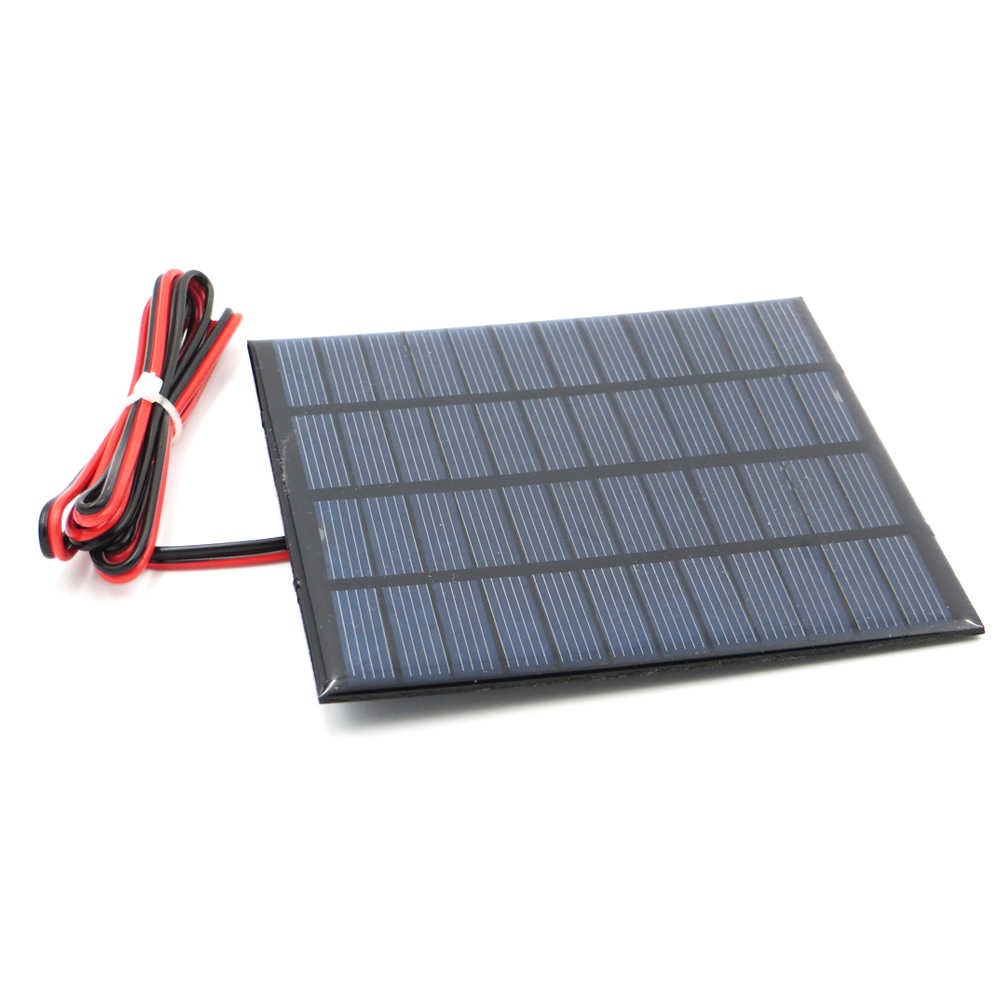 12 V 150mA 1.8W extend wire Solar Panel Polycrystalline Silicon DIY Battery Charger Small Mini Solar Cell cable toy Volt 12V