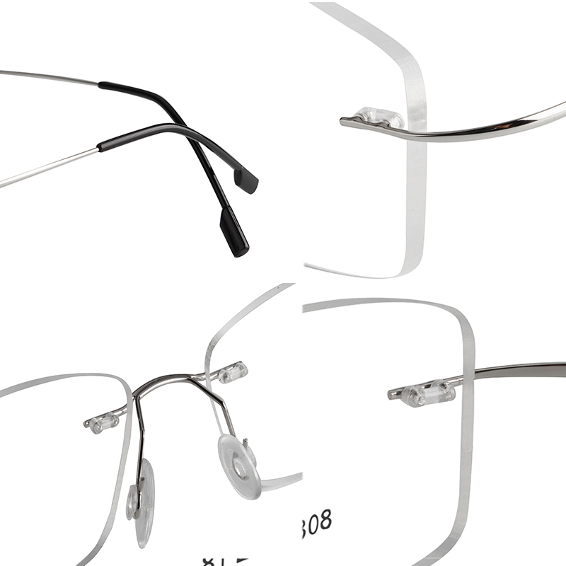 00ccba5400 Aliexpress.com   Buy Fashion Super Flex and Light Memory Titanium Rimless  Eyeglasses Frames For Myopia Lenses Reading Glasses from Reliable titanium  rimless ...
