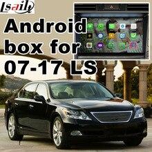 Android caixa de navegação para Lexus LS460 LS600h 2005-2009 caixa de interface de vídeo etc com GVIF espelho link youtube waze yandex GPS