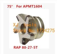RAP 400R 80 27 5T 75 Degree Positive Face Mill Head CNC Milling Cutter,milling cutter tools,carbide Insert APMT1604