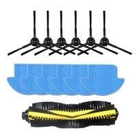 13pcs/set ilife v7s ilife v7s pro robot Vacuum Cleaner Parts kit ( Main Brush*1+mop Cloths*6+Side Brush*6) Chuwi ILIFE v7s pro.
