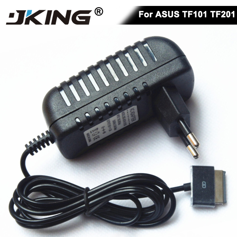 JKING Tablet Charger 15V 1.2A Wall Charger Travel Adapter For Asus Eee Pad Tablet Transformer TF101 TF201 TF300 Tablets Charger protective pu leather case for asus eee pad transformer tf101 black