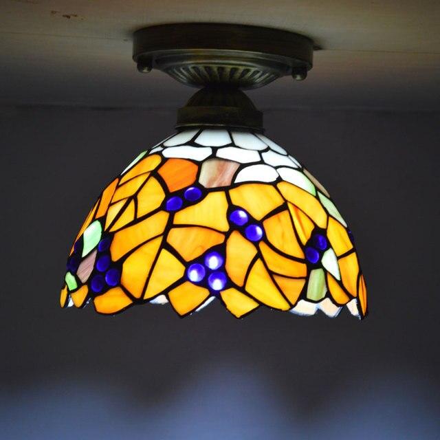 Tiffany Deckenleuchte Glasmalerei Lampenschirm Landhausstil ...