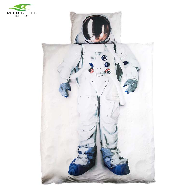 MING JIE Brand 3D Bedding set Astronaut Captain America princess Bed cover Twin/Full/Queen Size 3pcs/4pcs For Girls/Boys gift