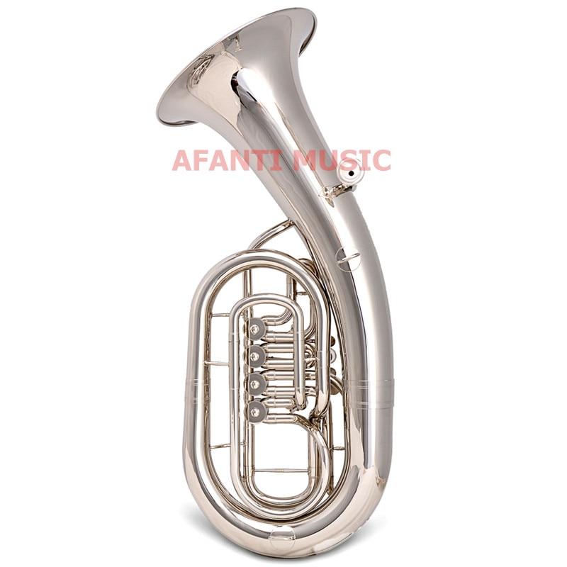Afanti Musique Bb ton/Jaune En Laiton/Nickel Plaqué Baryton (BAR-1011)