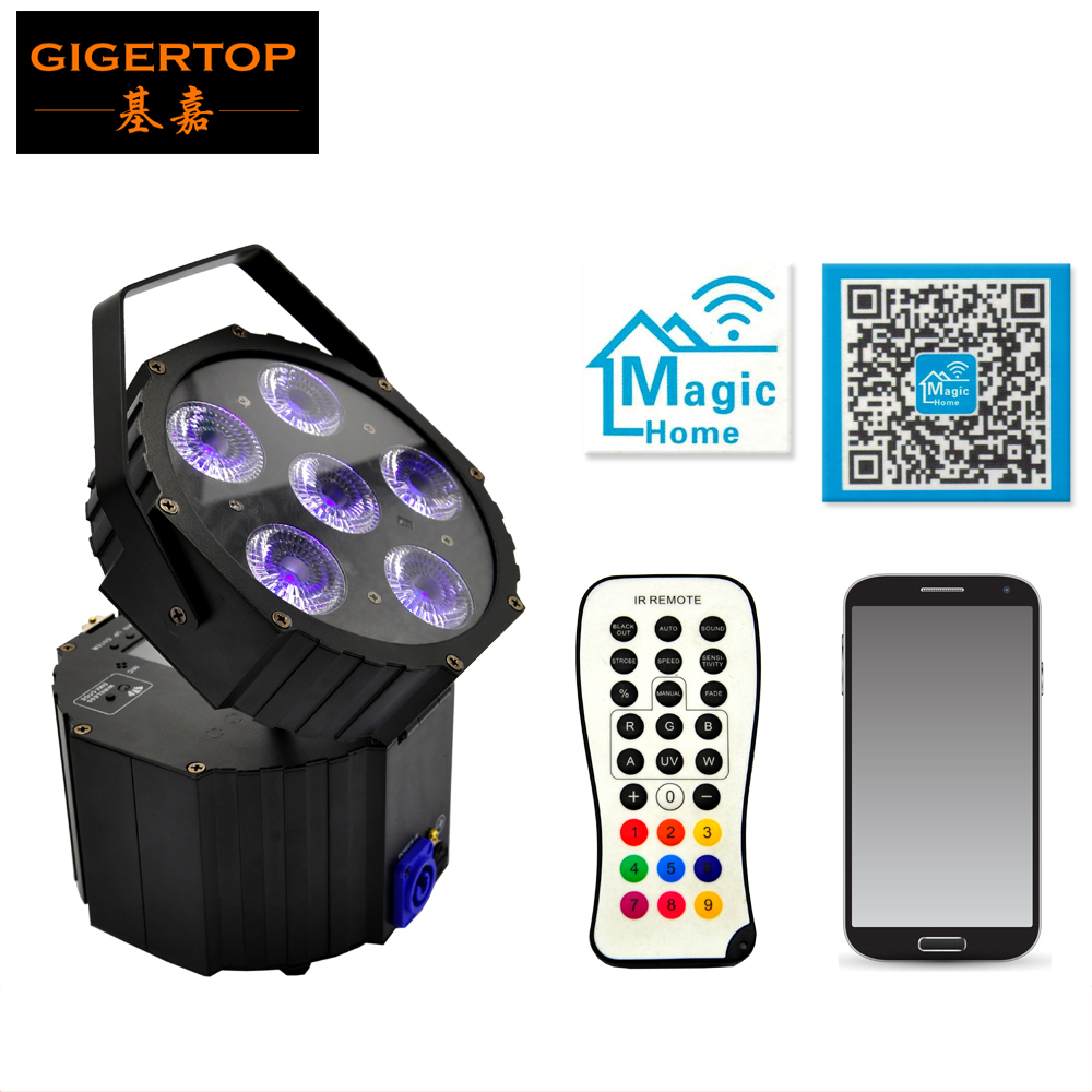 TIPTOP TP G3036 6IN1 6x18W 6in1 RGBWA UV Battery Powered Flat Wireless DMX Led Par Light Lens Angle 18 Degree DMX 6/10 Channels|lens cctv|lens free|lens achromatic - title=