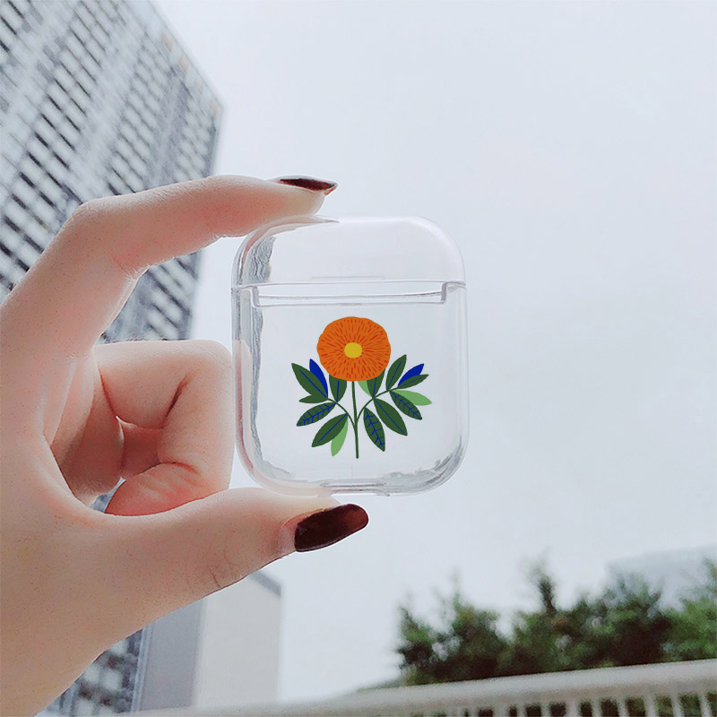 Image 5 - Hard Case For AirPods Case Cute Bluetooth Earphone Cover For Airpods Cartoon Art Flower Transparent Protect Cover-in Earphone Accessories from Consumer Electronics