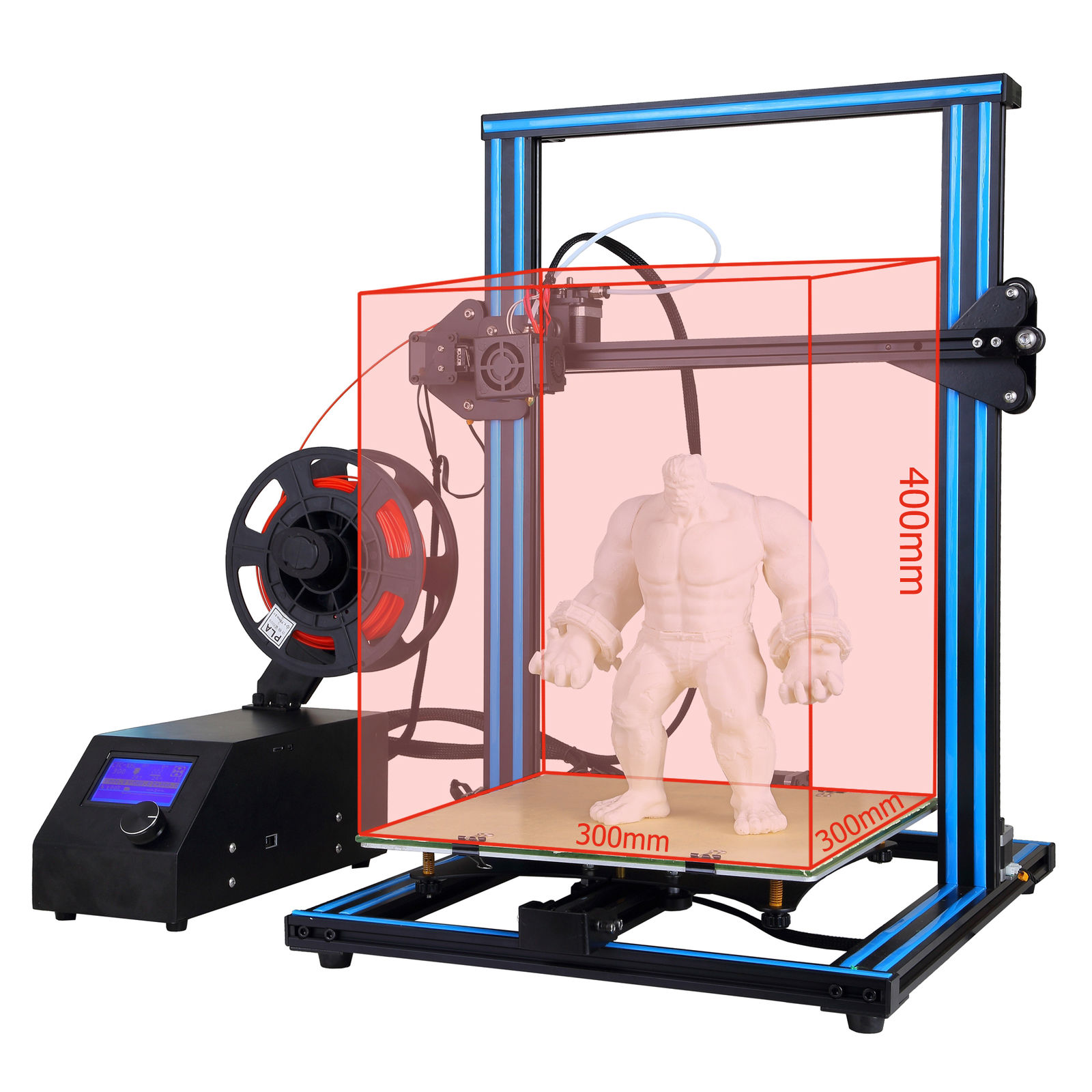 A-10S 3D Drucker Dual Z-achse DIY Große Modelle 300*300*400mm drucker 3d Drucker Impressora imprimante