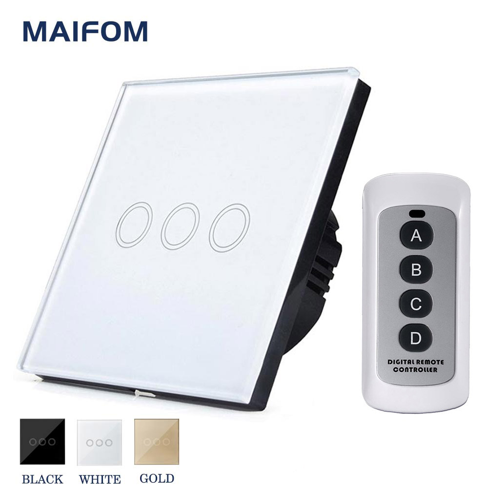 MAIFOM Touch Screen Light Switch Surface Waterproof Plastic ...