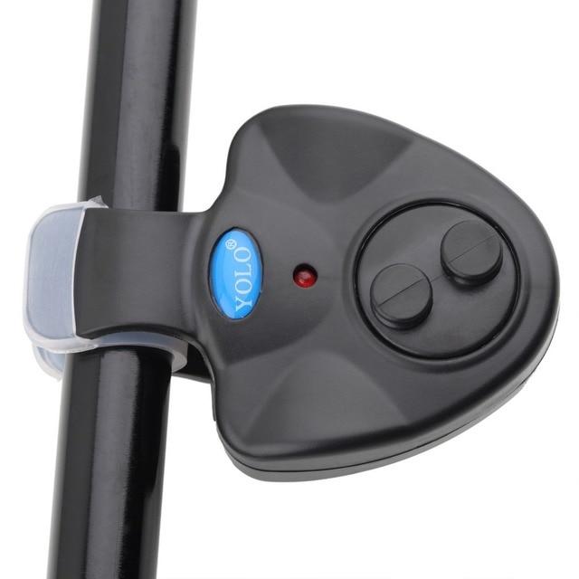 YOLO Black Small MINI Electronic Wireless ABS Fish Bite Alarm Sound Running LED Sensitive Mat fishing Accessories