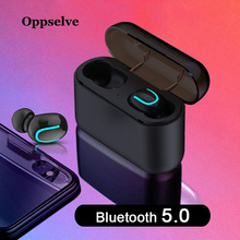 Oppselve Bluetooth 5.0 Earphones TWS Wireless Headphones Stereo Handsfree Blutooth Headphone Sports Earbuds With Dual Microphone