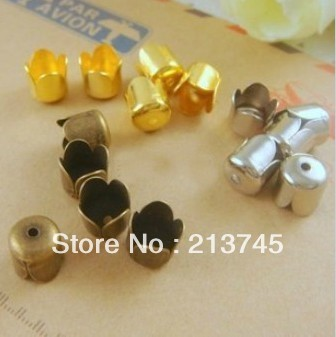Free shipping Wholesale  2000pc/lots Metal jewelry accessories 6.5 mm painted   bronze color tassel cap DIY Bead caps