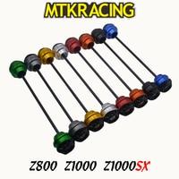 MTKRACING для Kawasaki Z800 Z1000 13-15 Z1000SX 11-15 мотоциклетные передние и задние колеса осевой слайдер амортизатор защита от падения