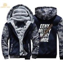 The Walking Dead Eeny Meeny Miny Moe Negan Lucille Zombie Hoodies Men 2019 Winter Fleece Camouflage Sweatshirts Warm Jackets