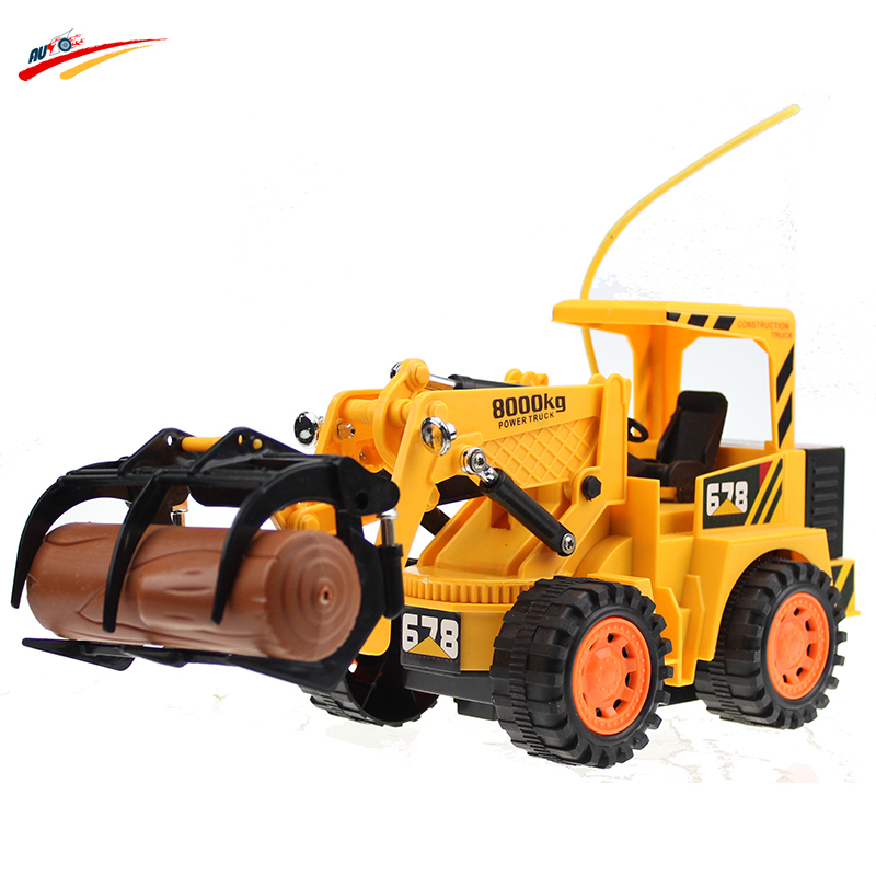 RC Toy RC Logging Fork Truck Wireless 5CH 1:16 Timber Grab 4 Wheels Engineering Electronic Toys