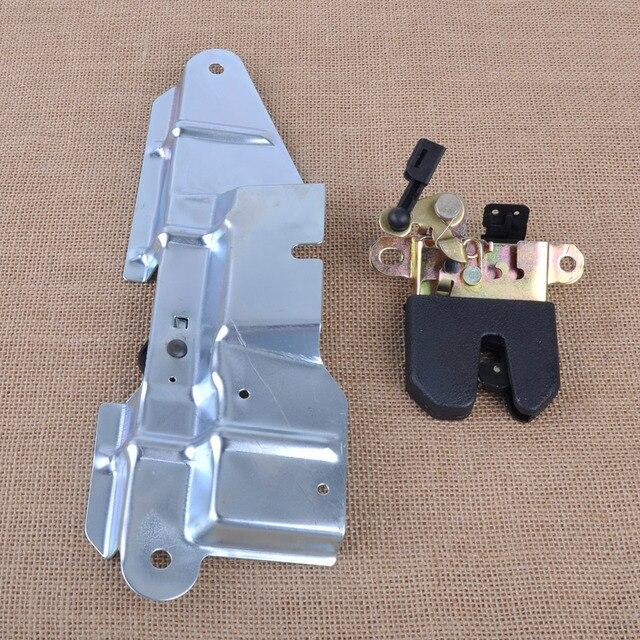 CITALL 1J5827505 1J5827425F Rear Trunk Boot Lid Latch Lock Actuator & Bracket Mount Set for VW Jetta Bora 1J2 MK4 1999-2004 LHD
