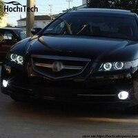4 sztuk/zestaw wielobarwne RGB SMD 5050 Lampa Błyskowa LED angel eyes światła dla Acura TSX 2009 2010 2011 2012