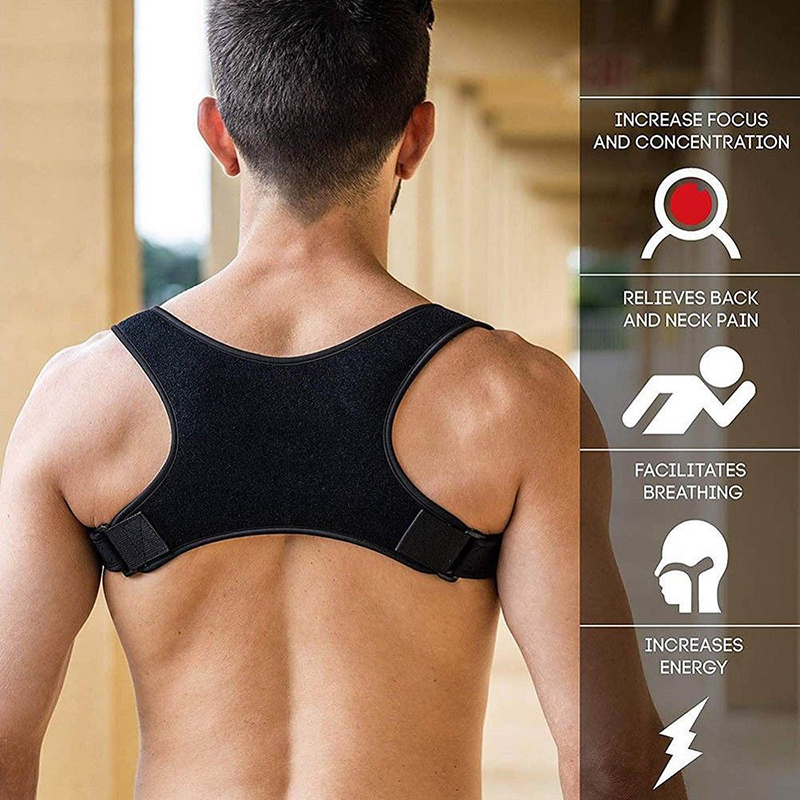 Adjustable Students Posture Corrector Fracture Support Back Shoulder Correction Brace Belt Strap Adults Children Toiletry Kits